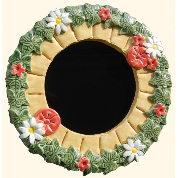 Floral Framed Dark Mirror-159