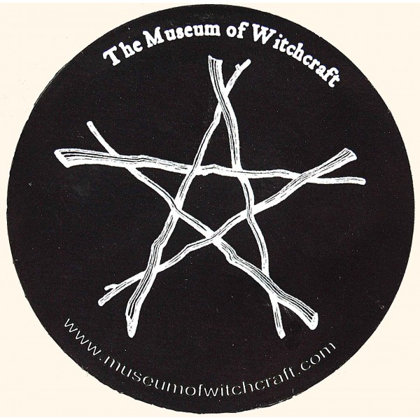 Round Twig Pentacle Fridge Magnet-174