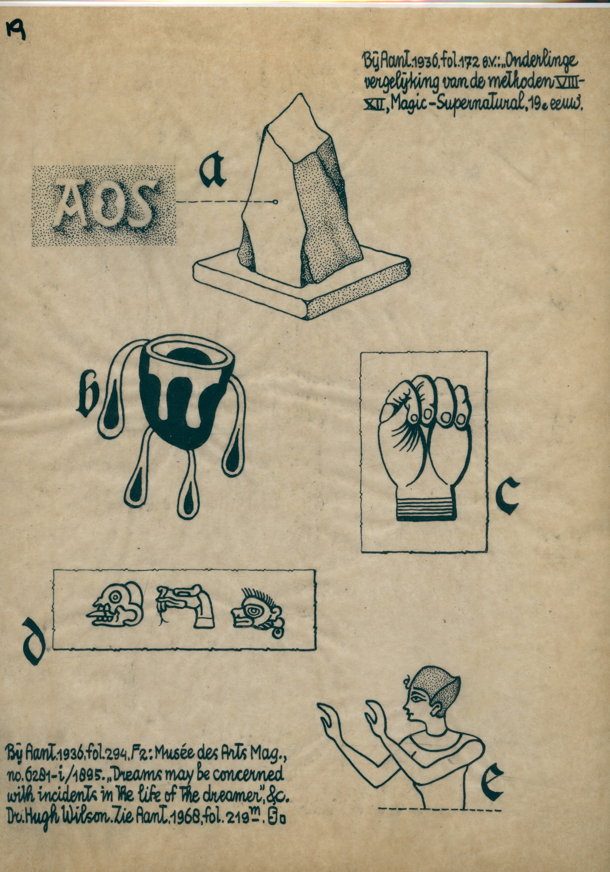 R119 Drawing Of A Rock A Fist An Egyptian Mayan Symbols And