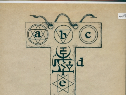 R/3/523 - Drawing of 3 sigils, including an ankh and
