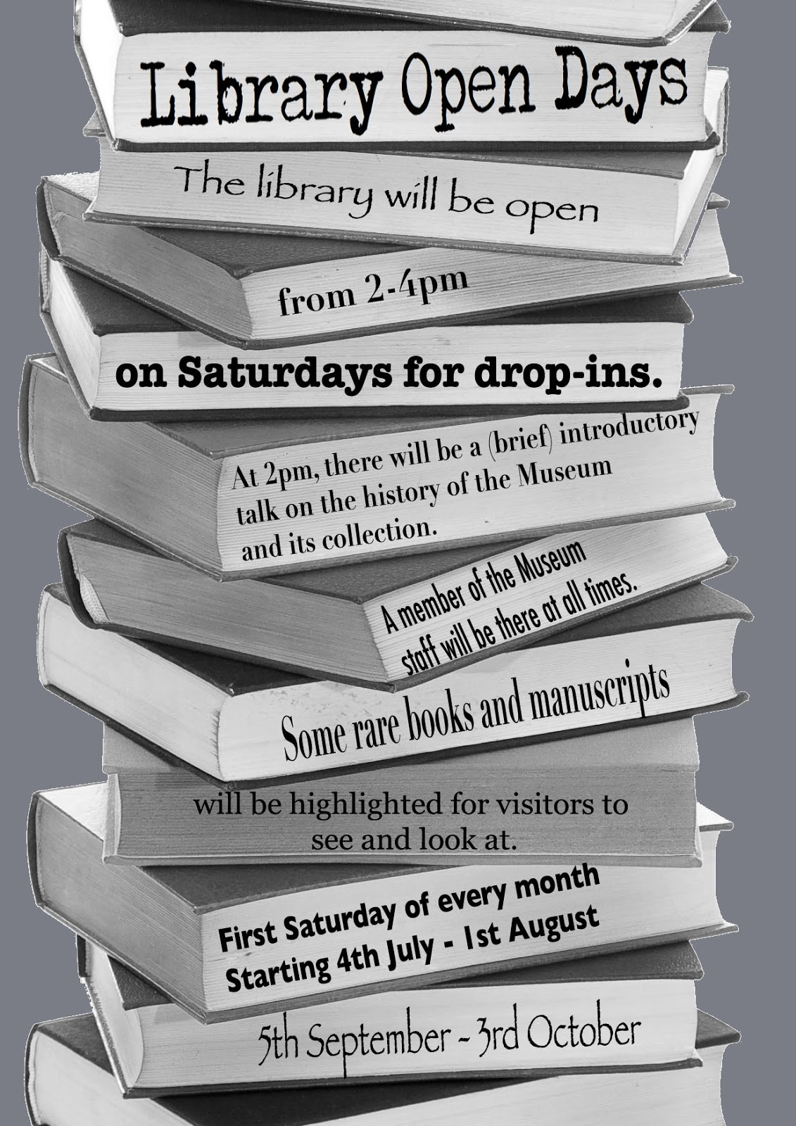 First ever library open day this Saturday