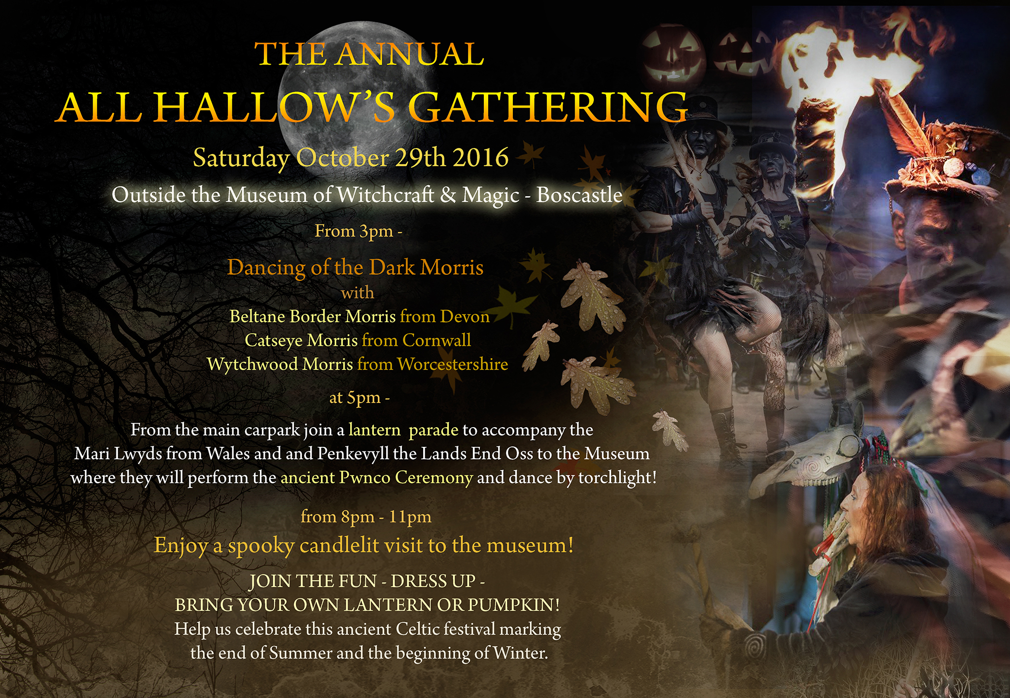 All Hallow's Gathering October 29th poster now available