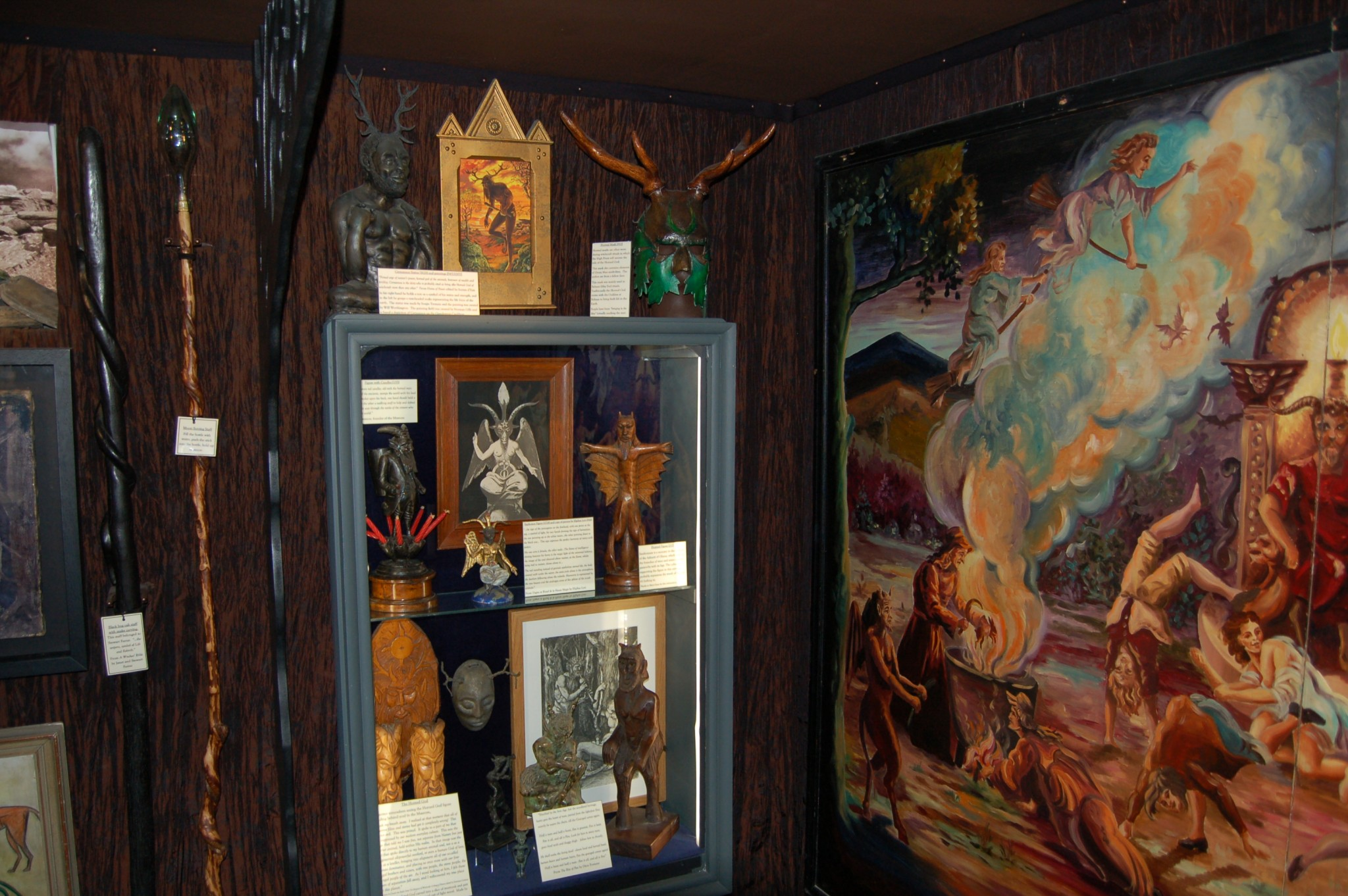 The upstairs gallery: before and after – Part One: The Horned God