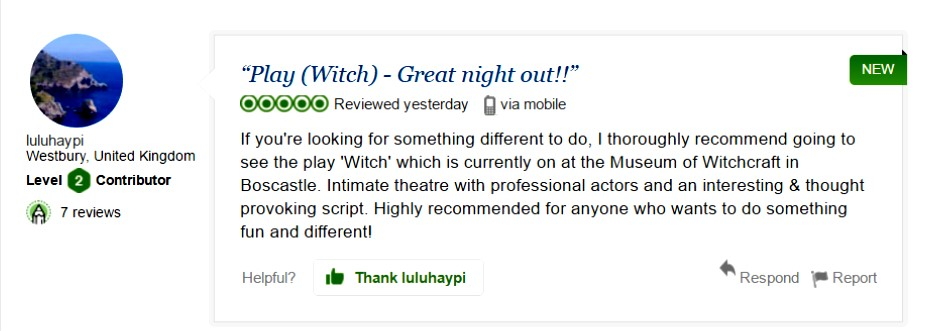 witch play review on trip advisor