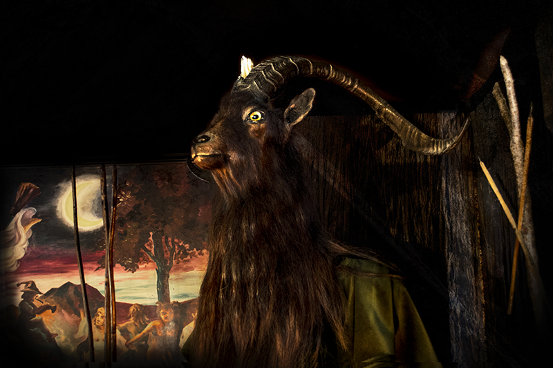 The Horned One at the Museum of Witchcraft, Boscastle, Cornwall.