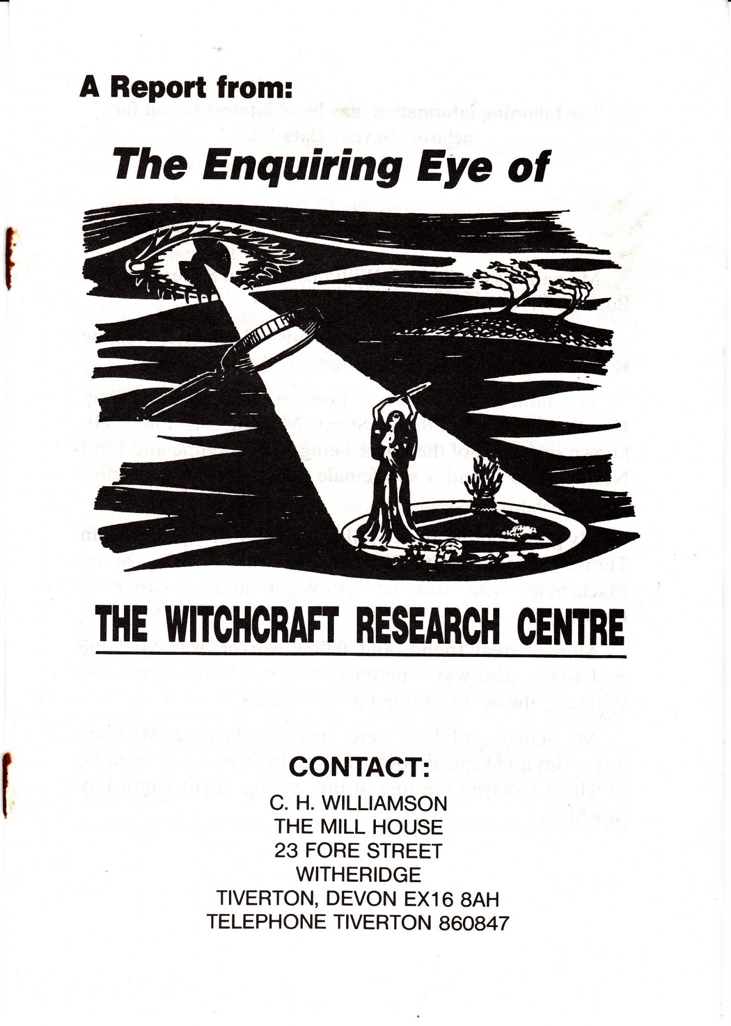 The Enquiring Eye of the Witchcraft Research Centre – call for articles