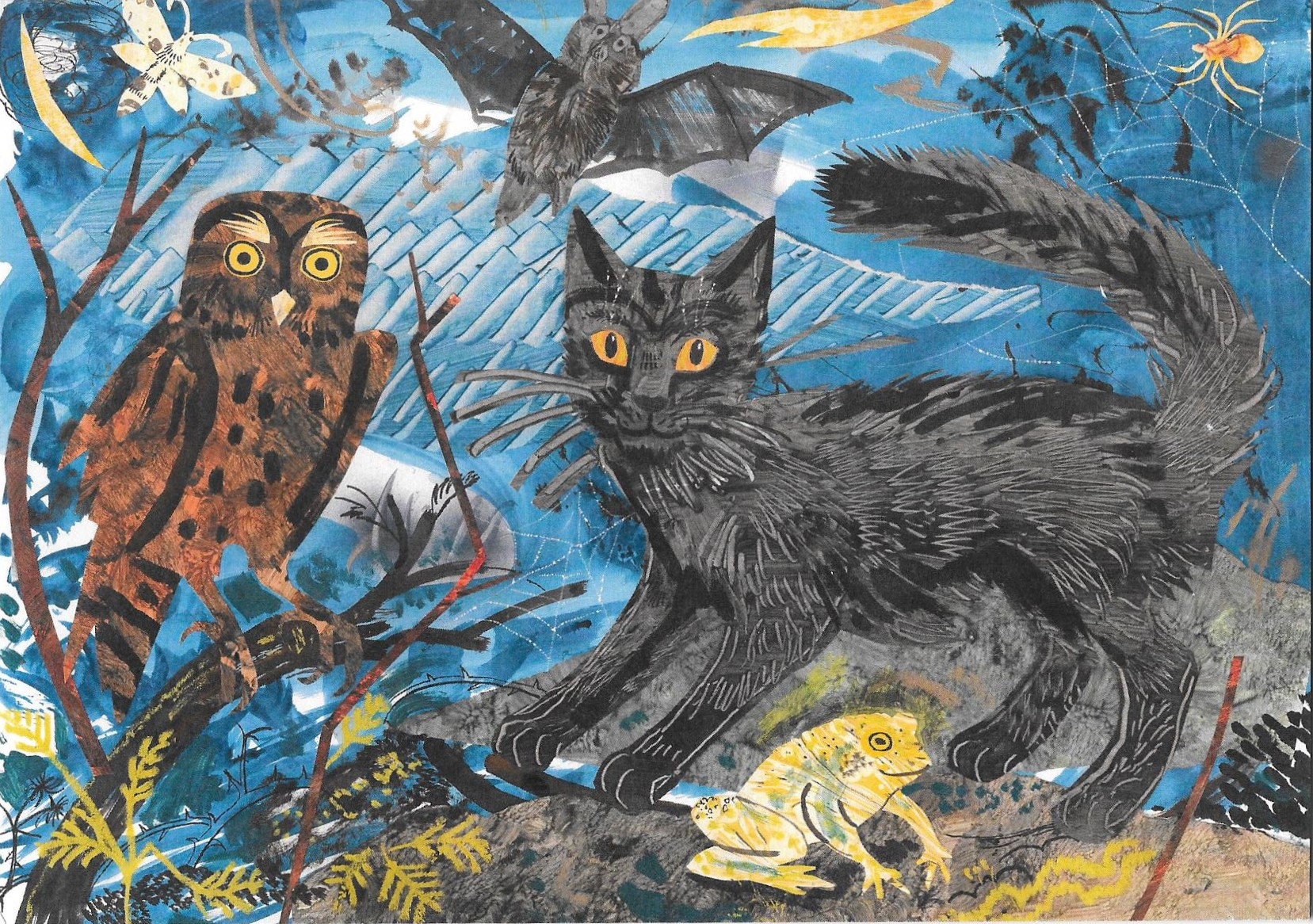 Card – A Witch's Familiars Art Card by Mark Hearld ...