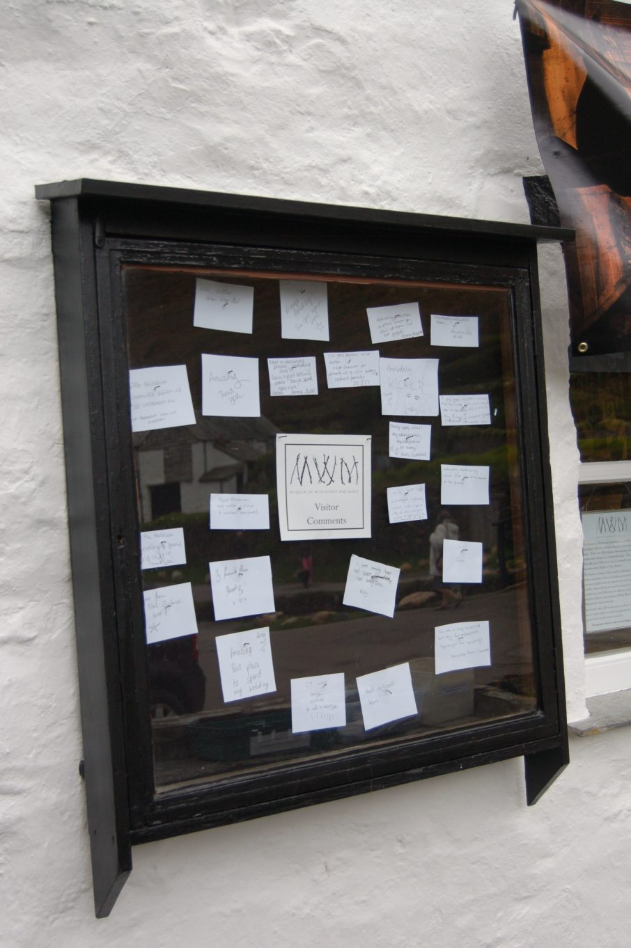 New visitors comments outside the Museum