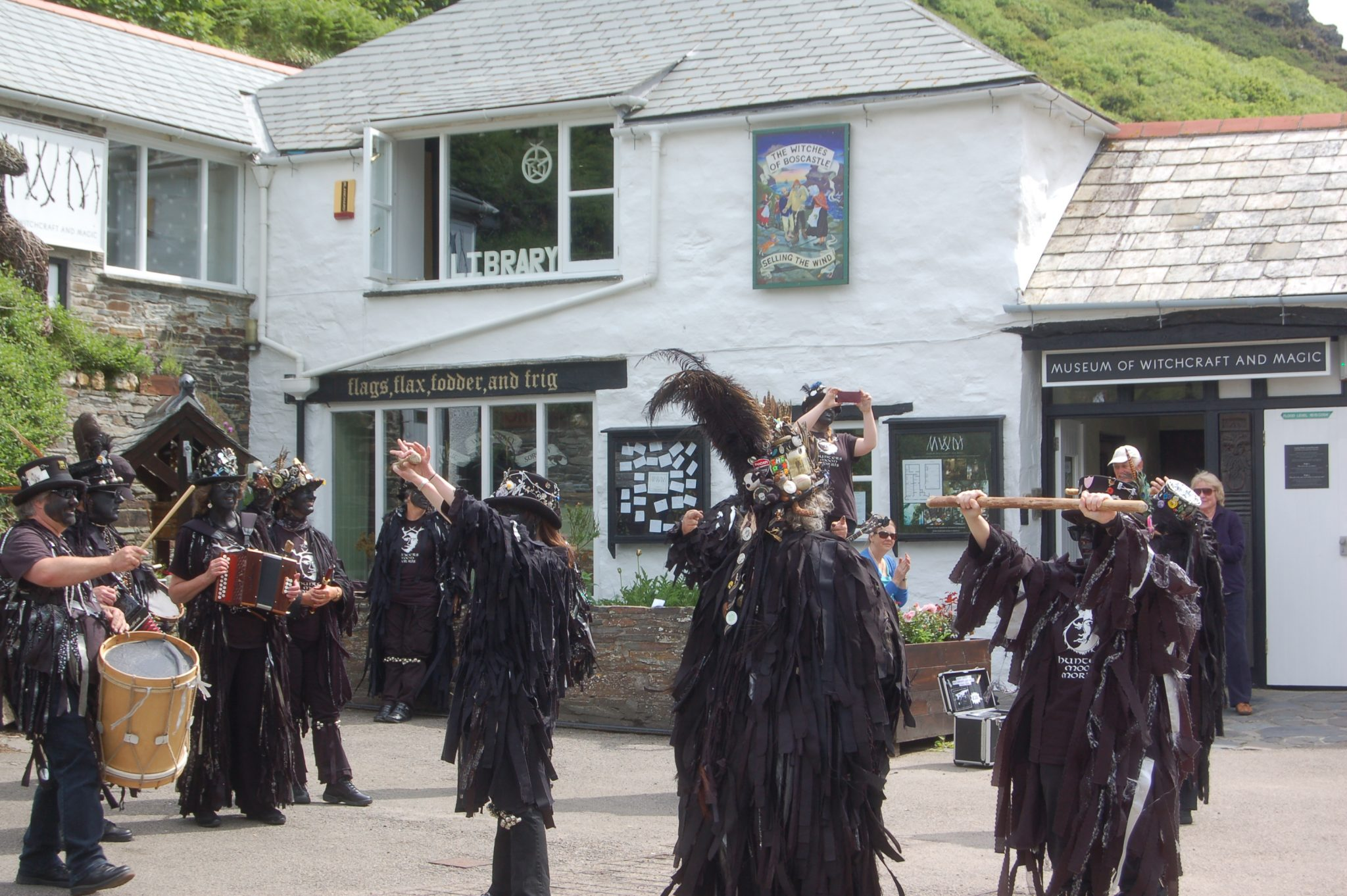 Hunters Moon Morris outside the Museum