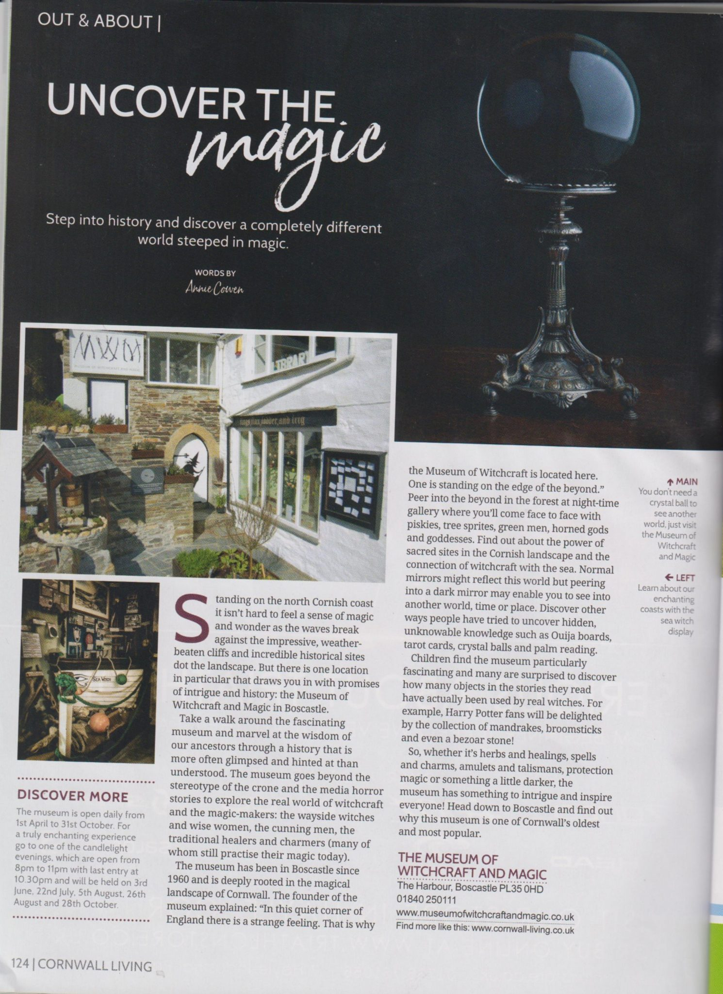 Museum appears in Cornwall Living Magazine