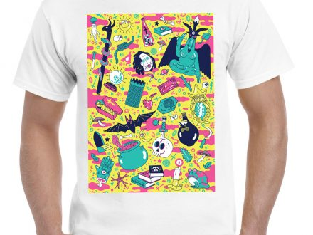 "These are ""mad"" and ""uncompromisingly occult"" Groovy museum t-shirts!"