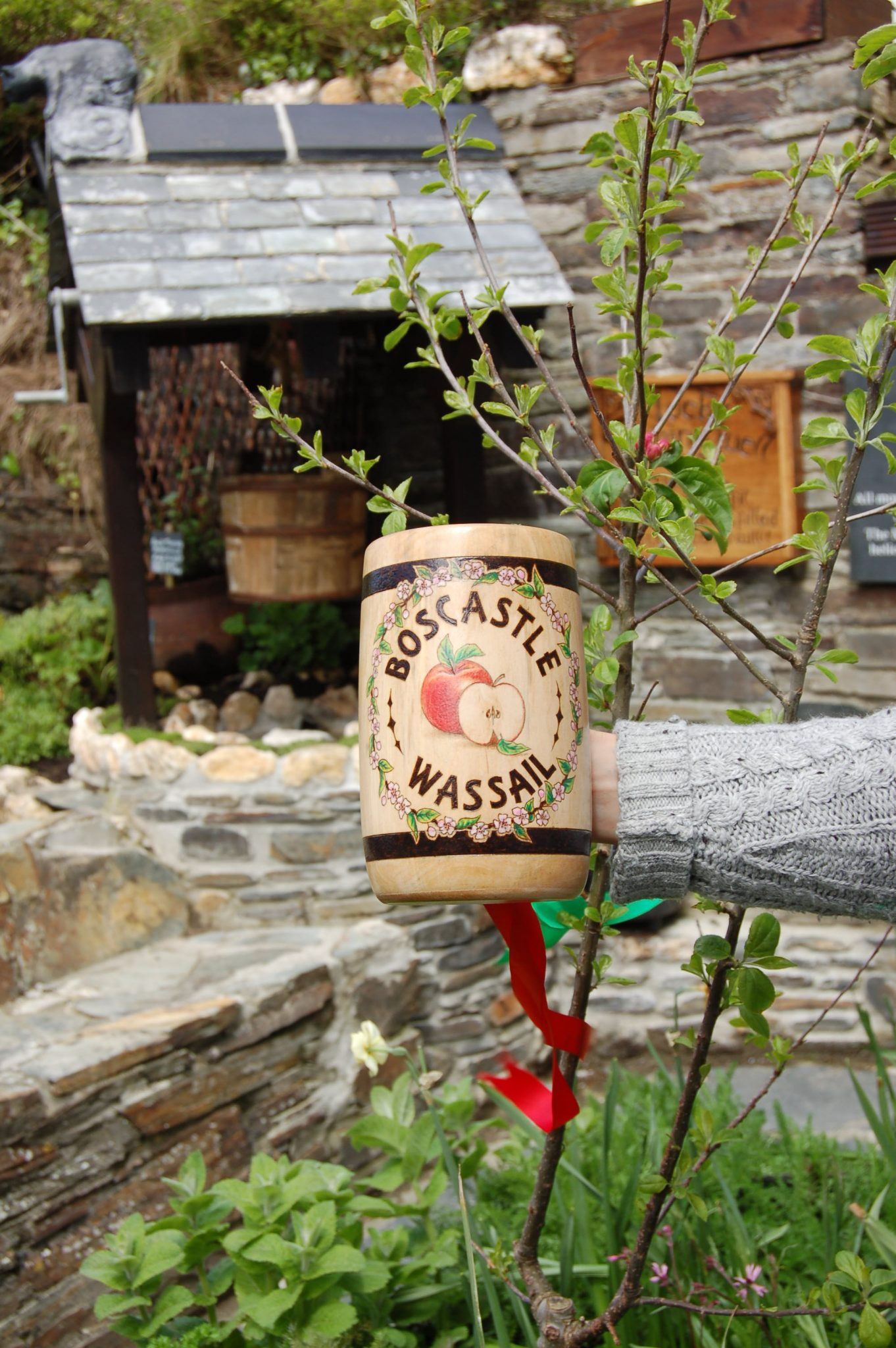 Wassail cup and apple tree