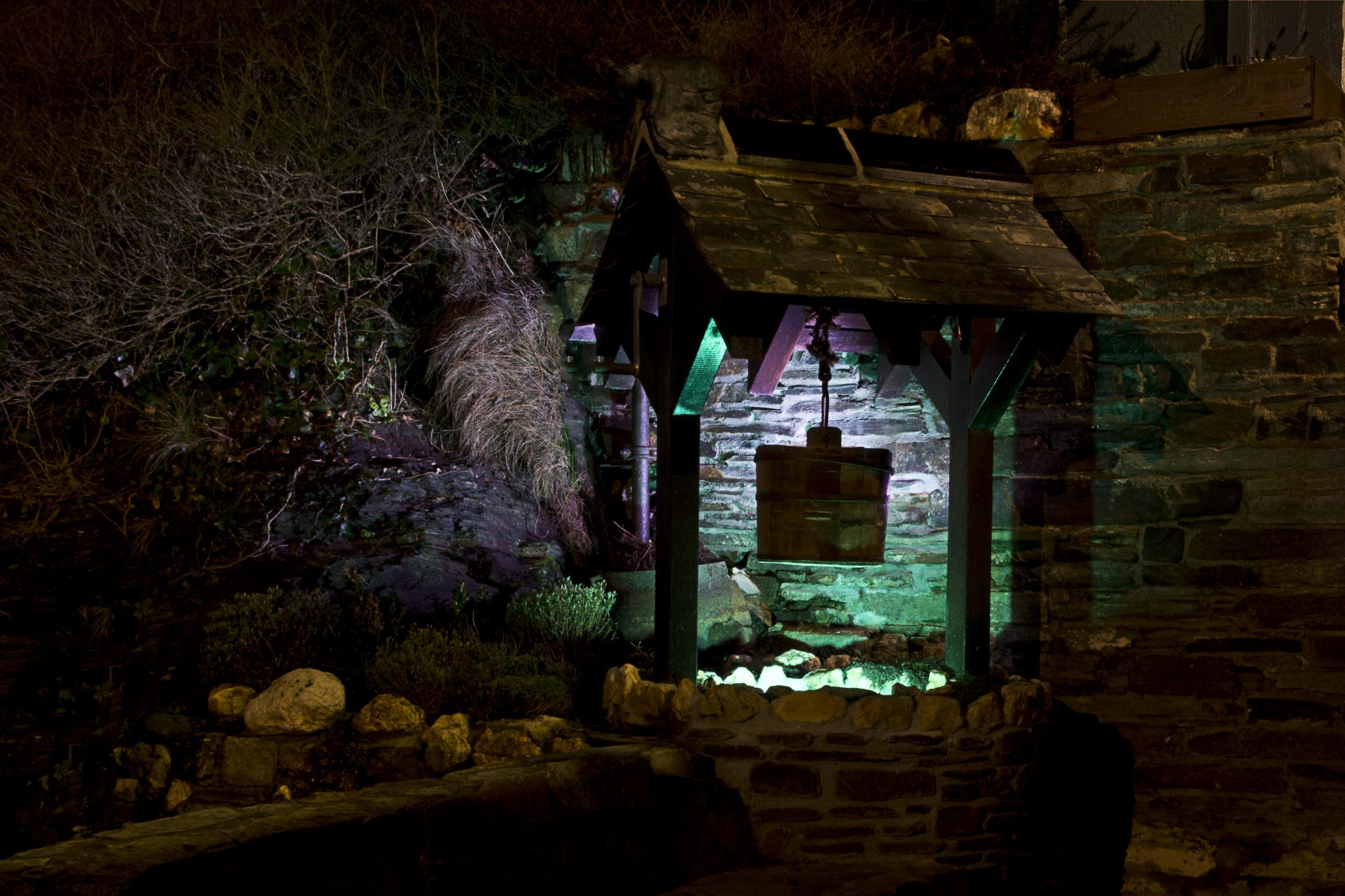 Photos of Museum Wishing Well at night