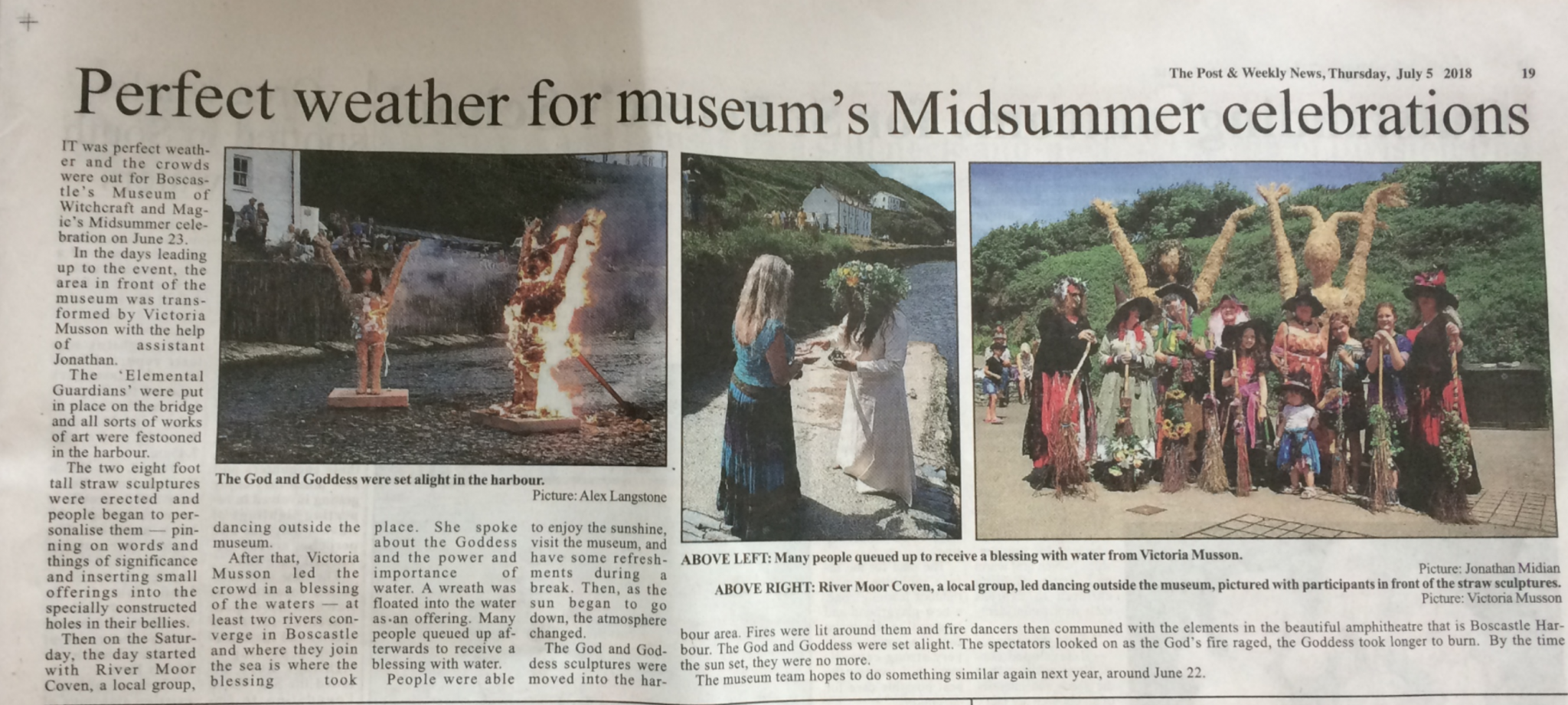 Midsummer event appears in local papers