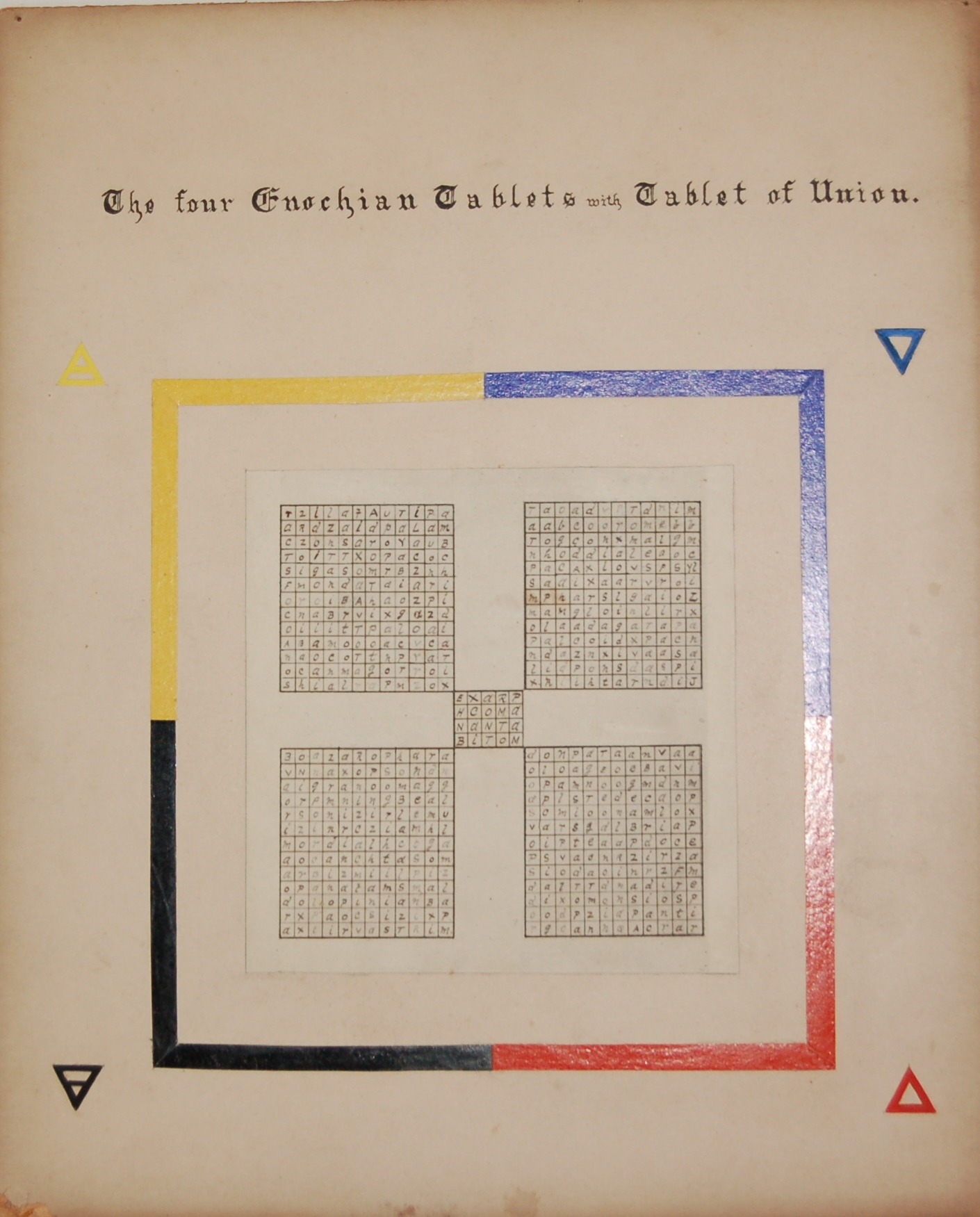 3912 - Alpha Omega Tracing Board Diagram Four Enochian